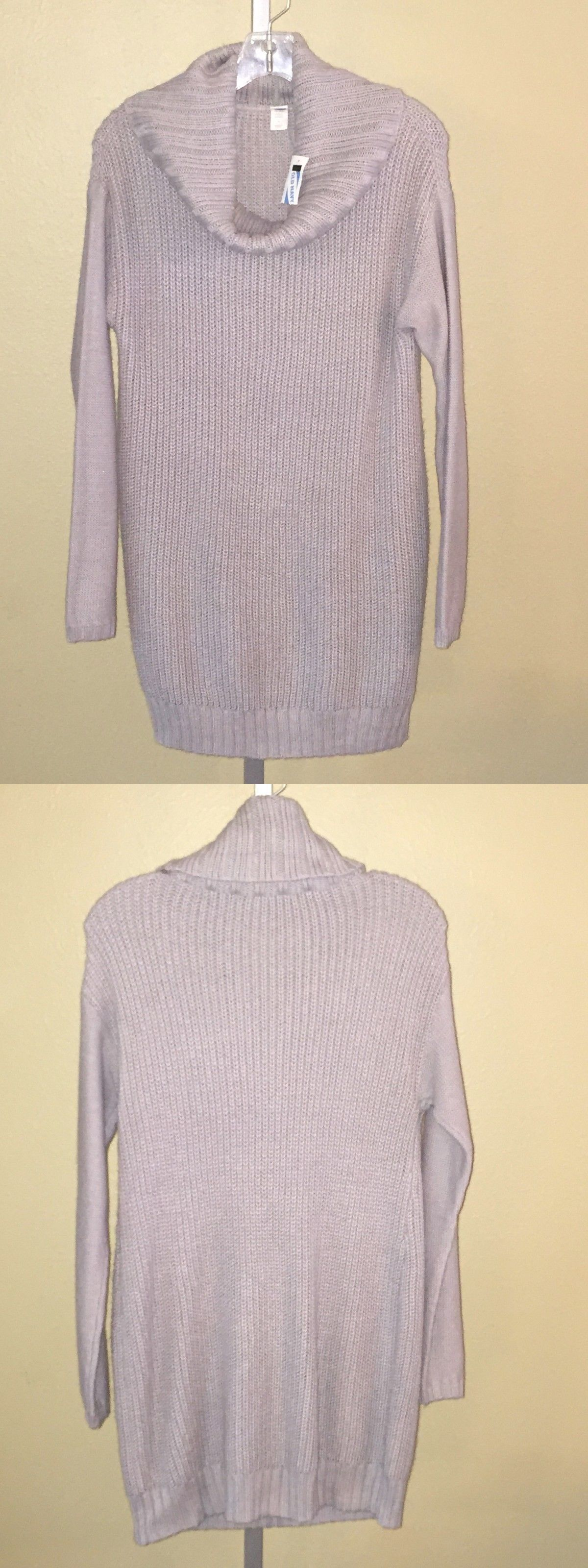 Sweaters 11538: Women S Old Navy Cloud Cover Gray Maternity Cowl ...