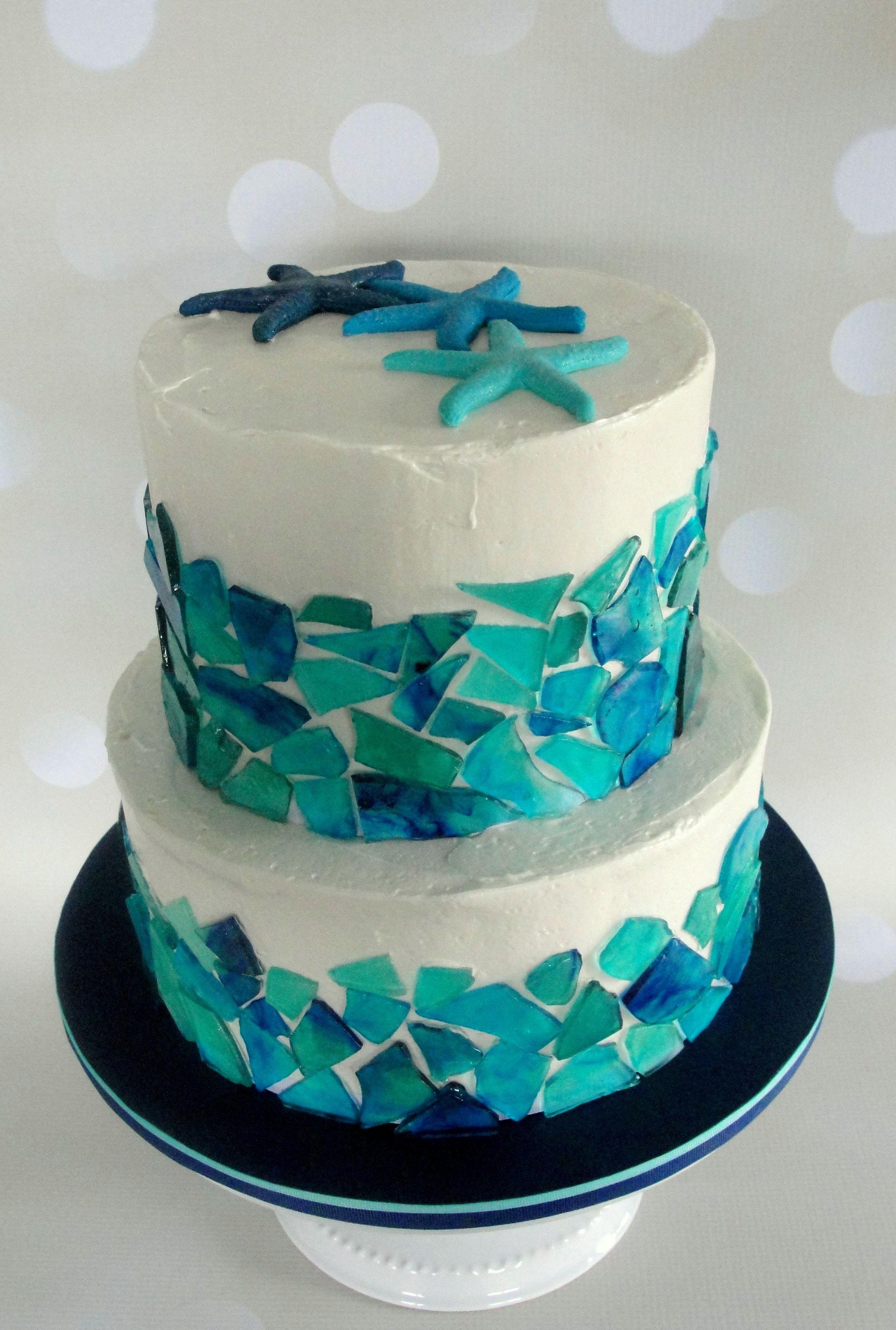 Starfish sea glass cake Cake & Islands