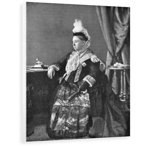 Photo of Wandbild Queen Victoria in the Dress She Wore at Her Golden Jubilee Service East Urban Home Format: Leinwand umschließt Rahmen, Größe: 40cm H x 31,4cm B x 3,8cm T