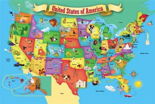 Puzzle Place Usa Floor Map 100 Piece Puzzle Game Searches