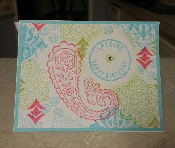 Girl birthday card. Bright colors.