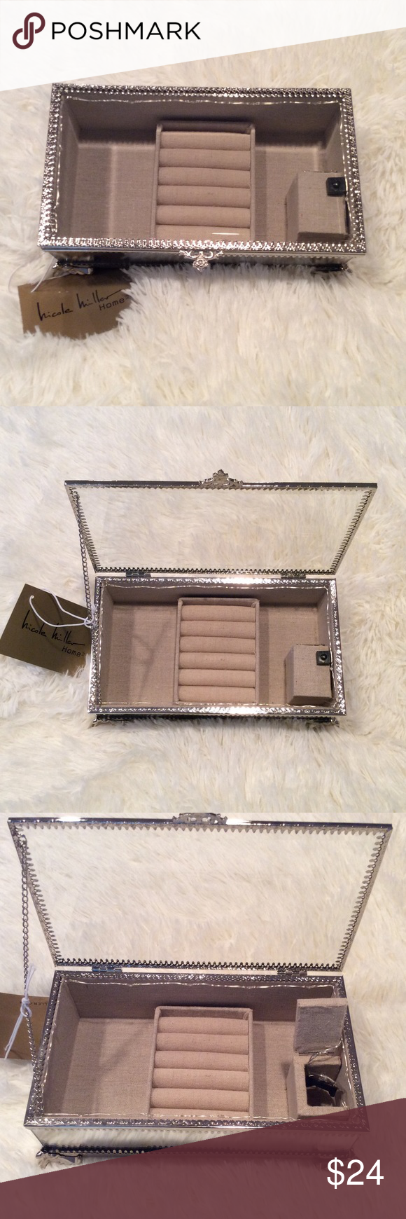 Nicole Miller Jewelry Box Best Nicole Miller Jewelry Box With Mirrored Sides Nwt Design Decoration