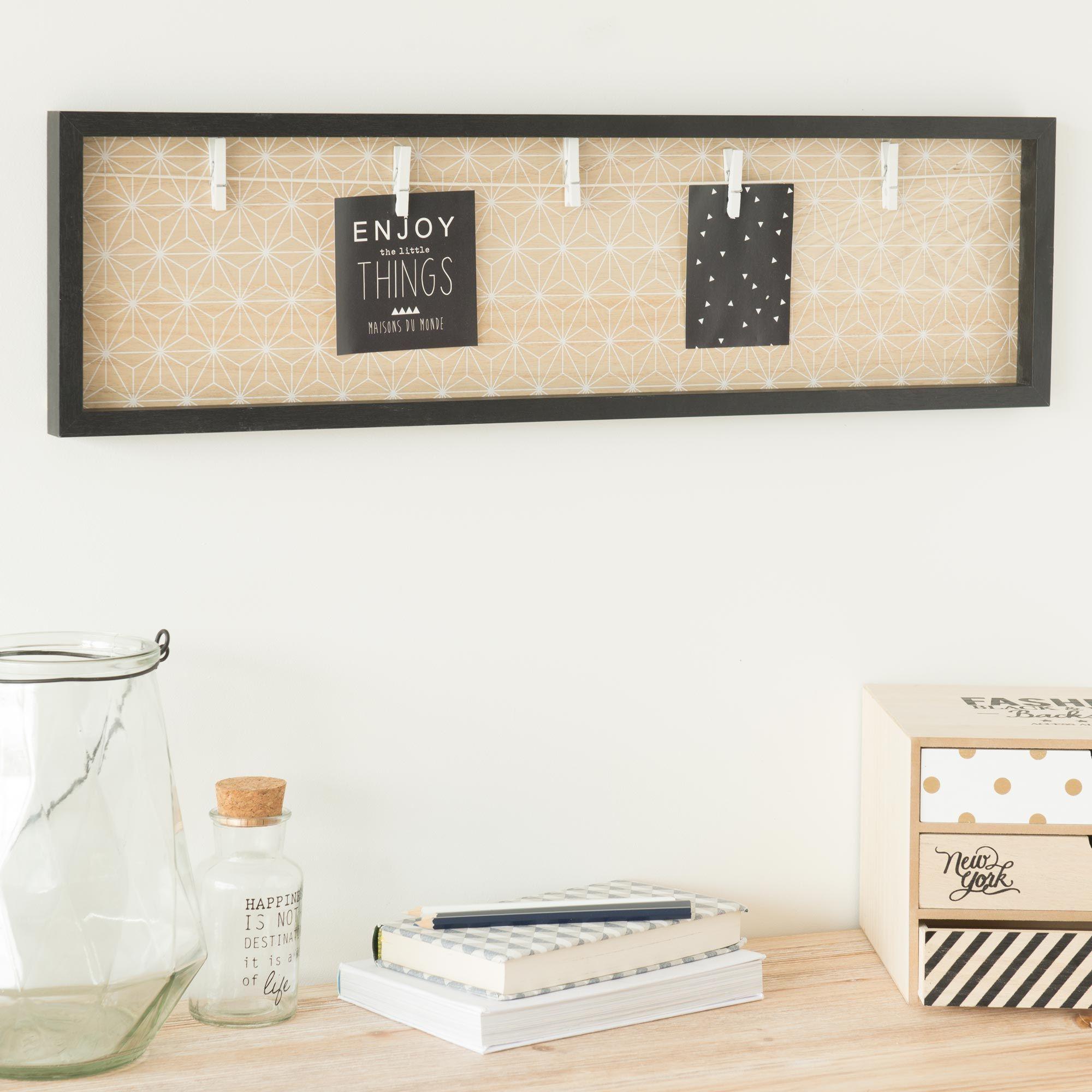 Pêle-mêle photo en bois 20 x 72 cm BLACKSTAGE   Maisons du Monde ...
