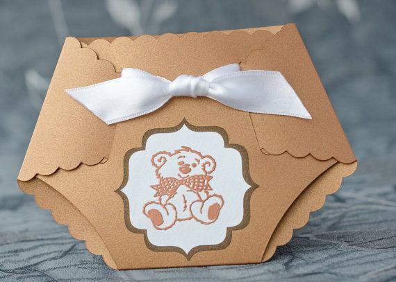 Girl Diaper Invitation Boy Diaper Invite Baby by CraftsIndeed - diaper invitation