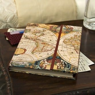 Old world journal with magnetic flap 825 x 65 journal chart the course of your thoughts in this exquisite old world map journal while pondering the witty and wise quotations scattered gumiabroncs Choice Image