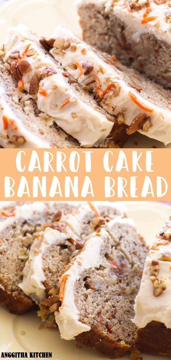 Carrot Cake Banana Bread desserts bread Banana bread