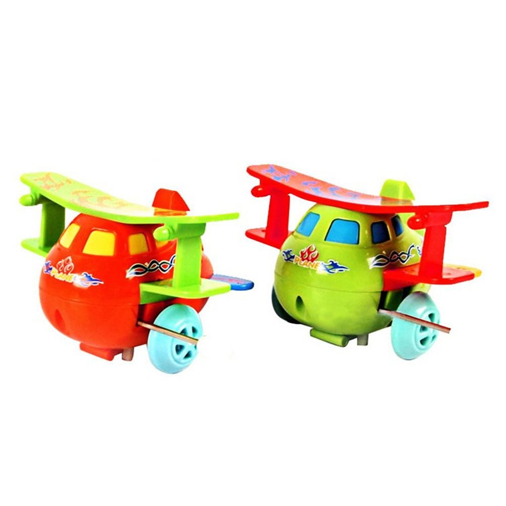 90s car toys  New Mini Kids Airplane Model Lovely Plastic Windup Toy Fashion
