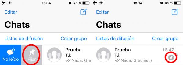 Cómo Fijar Un Chat En Iphone Trucos Para Whatsapp Trucos Notificaciones Whatsapp