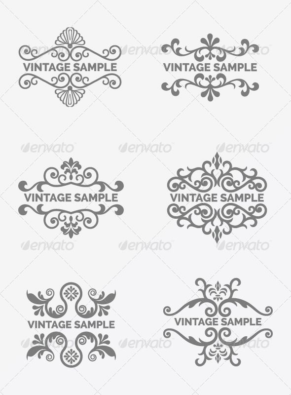 Vintage Frame 73   Design elements, Fonts and Font logo