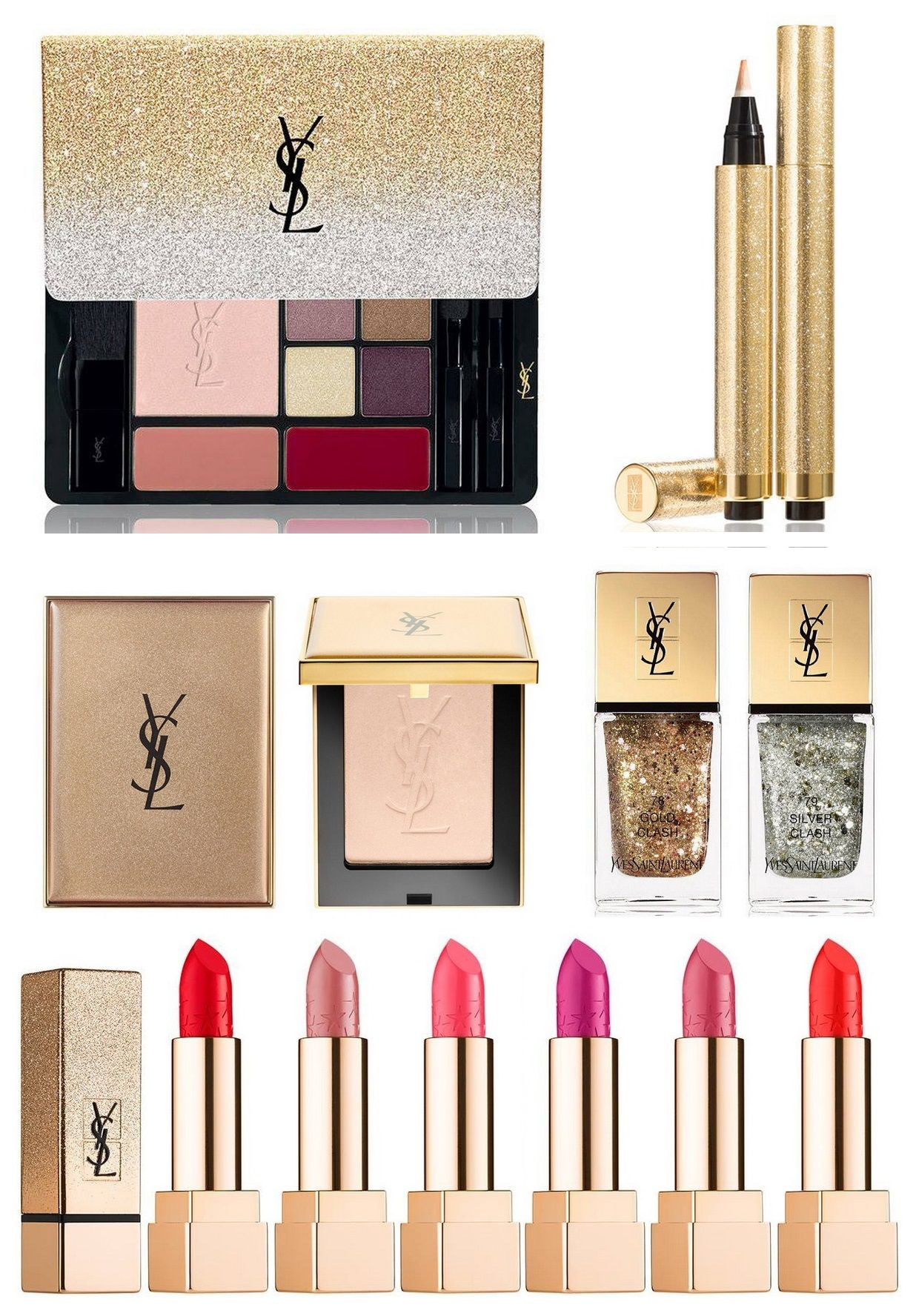 YSL Sparkle Clash Makeup Collection Christmas Holiday 2016-2017 | Beauty | Pinterest | Makeup ...