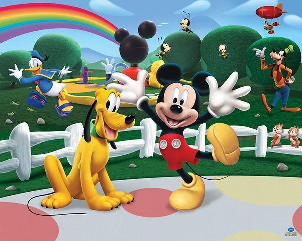 Walltastic Poster Fotobehang Mickey Mouse Met Zijn Beste