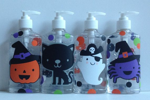Halloween Hand Sanitizer Soap Pumpkin Ghost Spider Witch