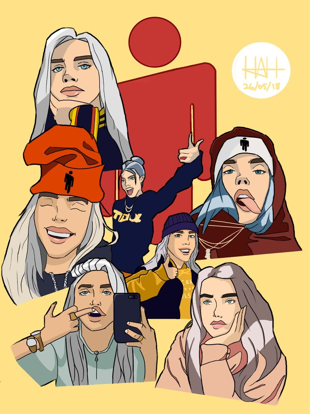 Billie Eilish Collage Billie Eilish Billie Fondo De Pantalla