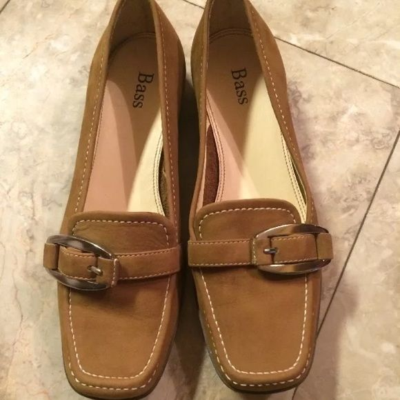 **Brand New!!** Size 5 Medium! Bass Anita Loafers! Bass Anita Loafers. Size 5 Medium. Brand New. Never Worn. Brown Suede. Bass Shoes Flats & Loafers