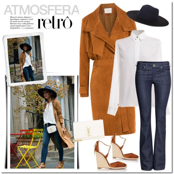 A fashion look from September 2015 featuring IRO coats, H&M jeans and Aquazzura sandals. Browse and shop related looks.