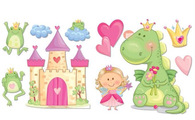 Castillo Y Princesa Bebe Clipart Princesas Dibujos Dragones Infantiles