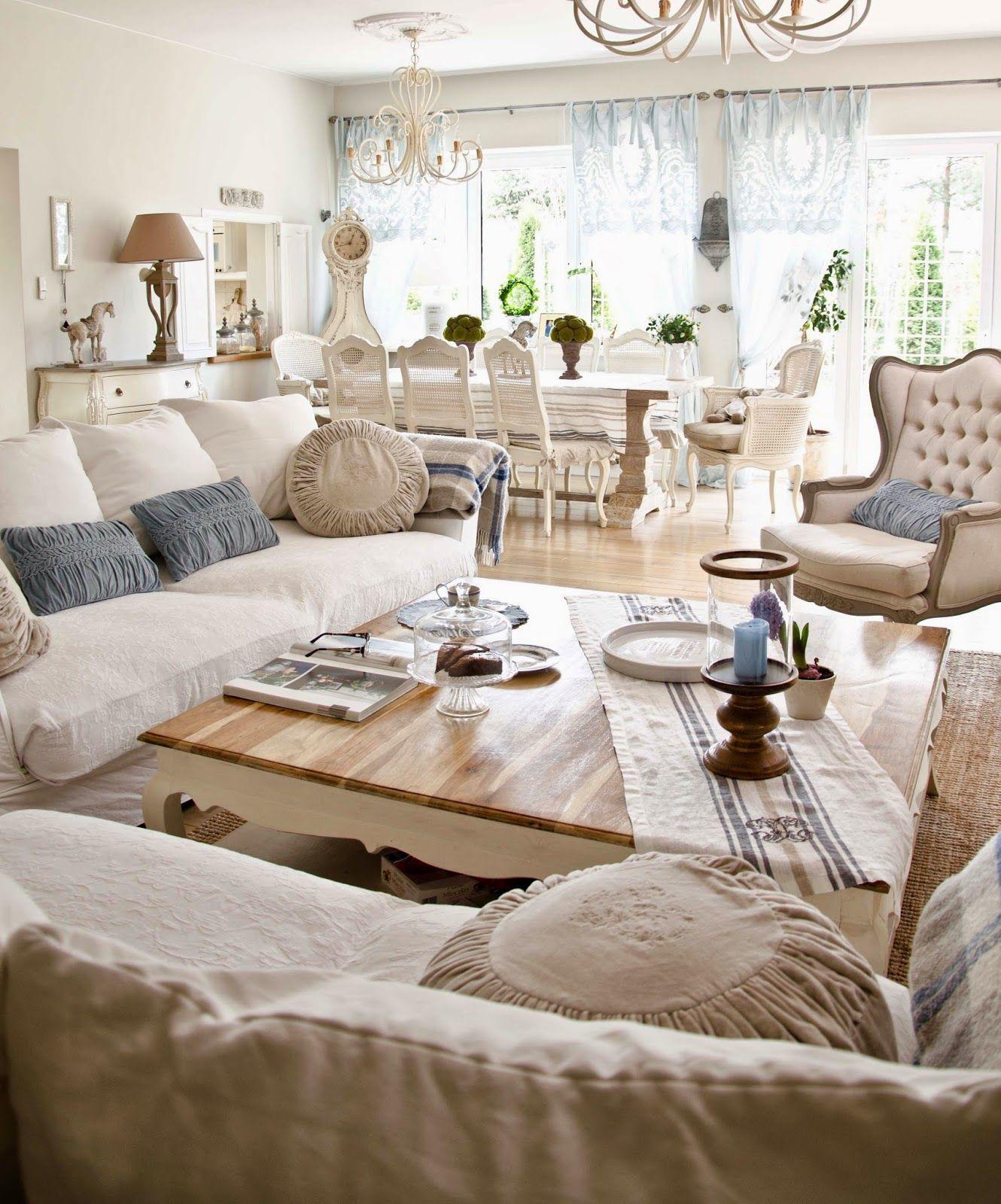 Bellemaison Inspiracje Niebiesko Nam Country Style Living Room French Country Living Room French Living Room Decor