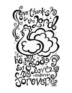 Image Result For Give Thanks To The Lord Coloring Page Free