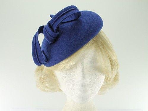 Winter Hats 4U - Failsworth Millinery Wool Felt Pillbox Headpiece in Royal  Blue 763234dbd929