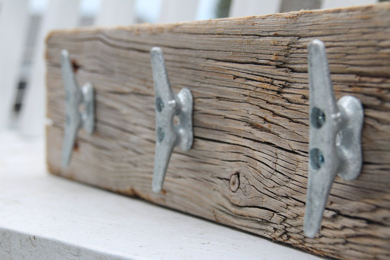 Nautical Coat Rack With Boat Cleats Made From By Docksidecottage 39 99 Via Etsy Cute For A Deck Boat Cleats Nautical Boat