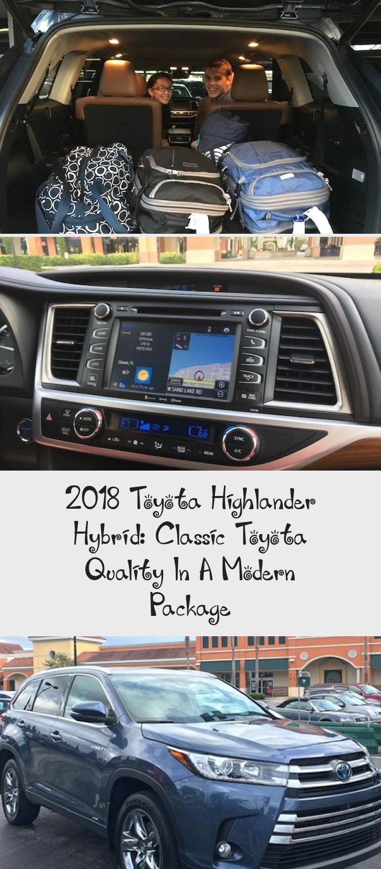 2018 Toyota Highlander Hybrid Classic Toyota Quality In A