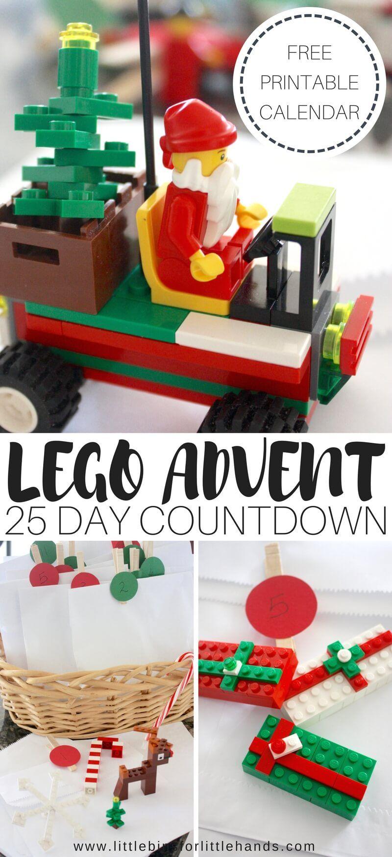 Lego Advent Calendar 2019 Christmas Countdown Diy Lego Advent