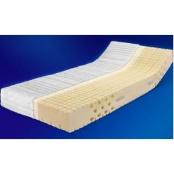 Ergo-med 70 7-zone cold foam mattress, degree of hardness H 2 (rg 70) 120 x 200 cm with double cotton sheet cover