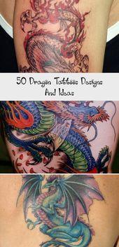Photo of 50 Dragon Tattoos Designs und Ideen – Tattoos –  Drachentattoos für Männer Mor…