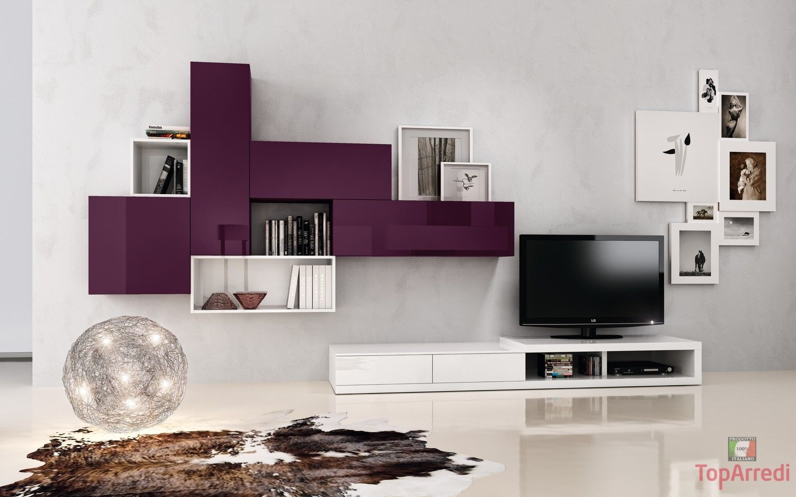 soggiorno-moderno-bianco-sospeso-per-arredo-salotto-moderno_2.jpg (1600×999)  home  Pinterest ...