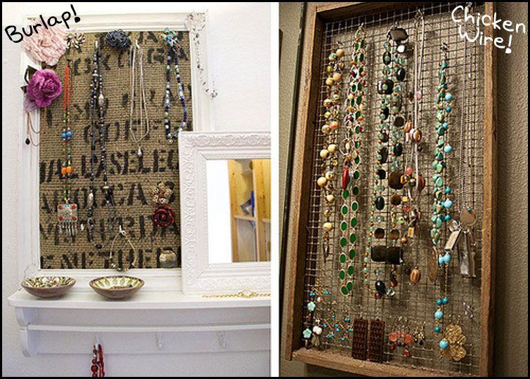 DIY: Framed Jewelry Displays