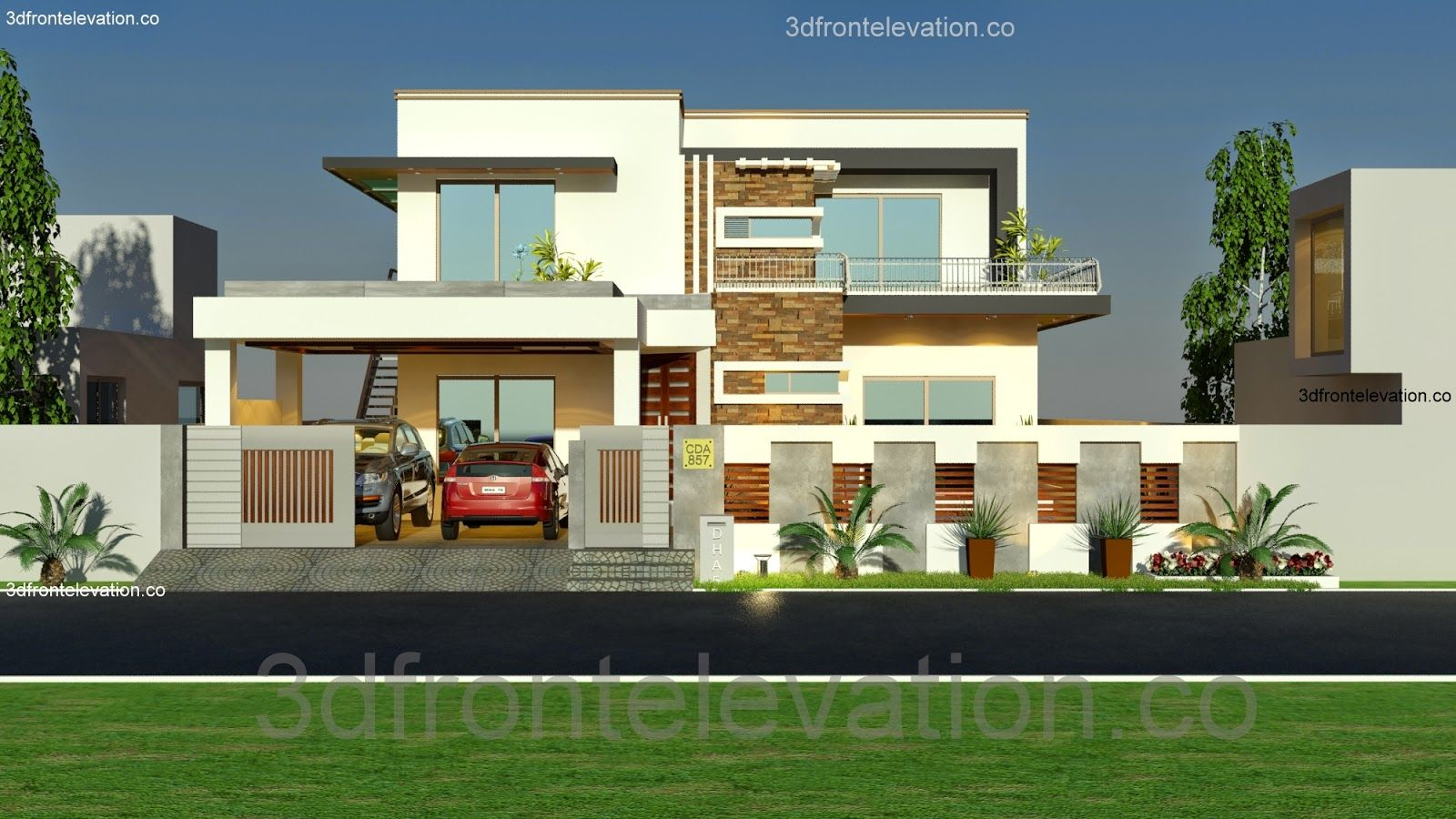 3d front elevation com 1 kanal house plan layout 50 x 90 3d front elevation cda islamabad pakistan