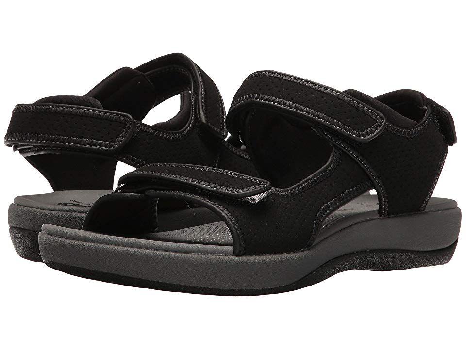 9bda4e99b12a Clarks Brizo Sammie (Black Perf Microfiber) Women s Sandals. The Brizo  Sammie is part