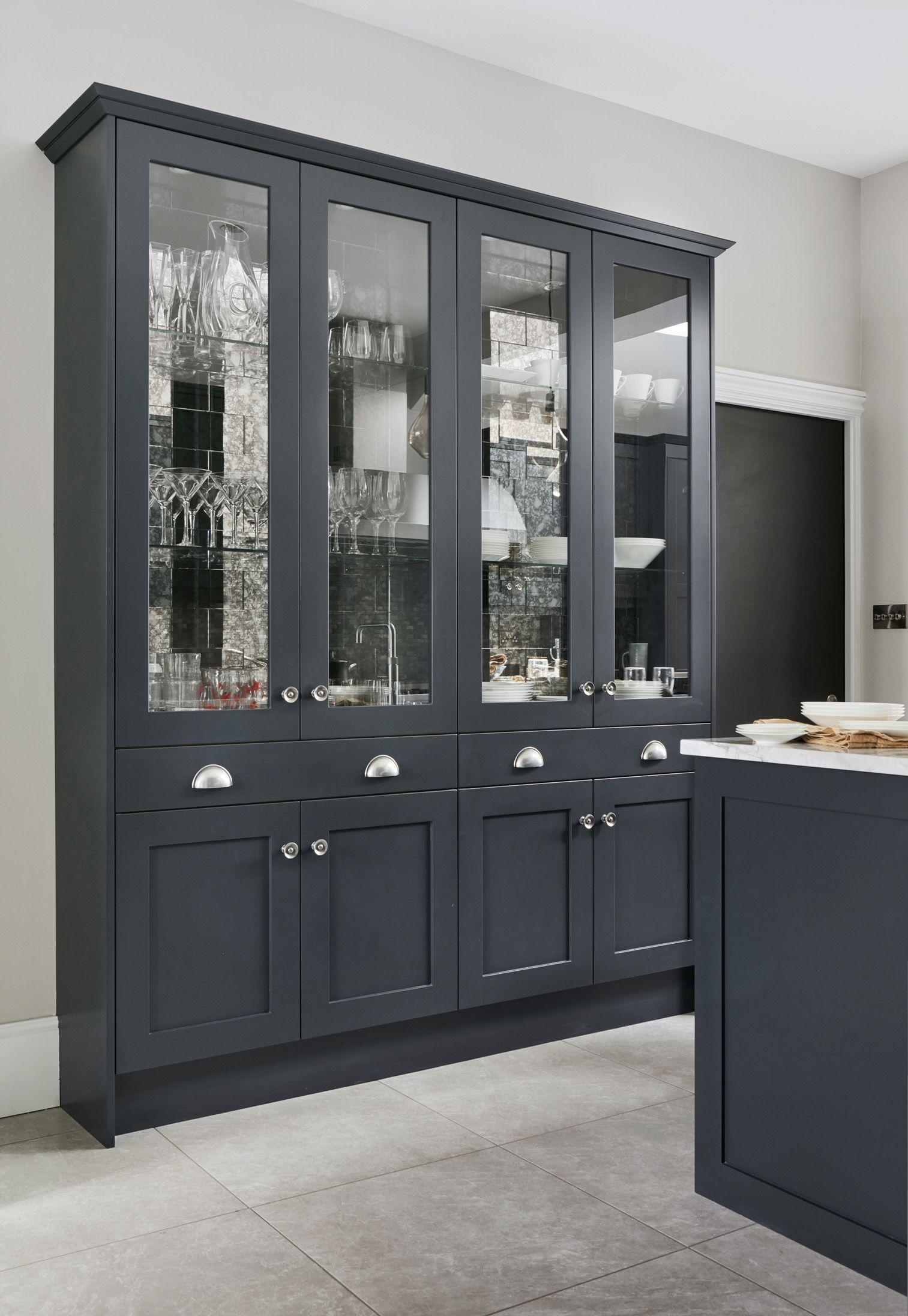 Glass Fronted Kitchen Cabinet Kitchen Display Cabinet Dining Room Dresser Kitchen Furniture Storage