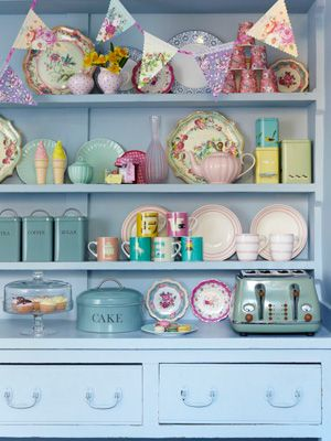 Dresser with plates and bunting spring home ideas at allaboutyou.com & Dresser with plates and bunting spring home ideas at allaboutyou ...