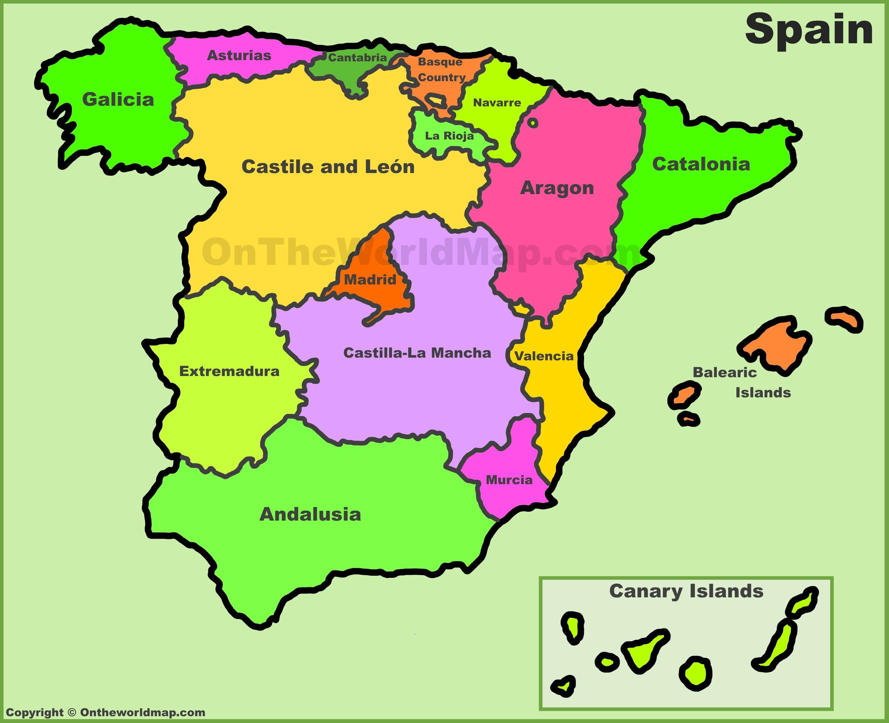 Image result for map of spain School