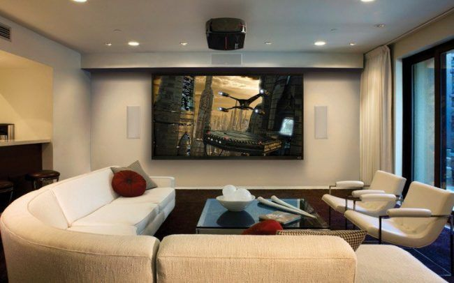 Beamer im Wohnzimmer integrieren - Ideen für ein einzigartiges - heimkino wohnzimmer ideen