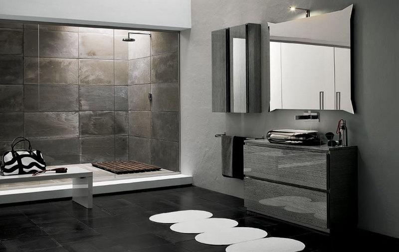 46700 arredo bagno bicolore antracite e grigio metallizzato varese 800 505 bagno - Arredo bagno grigio ...