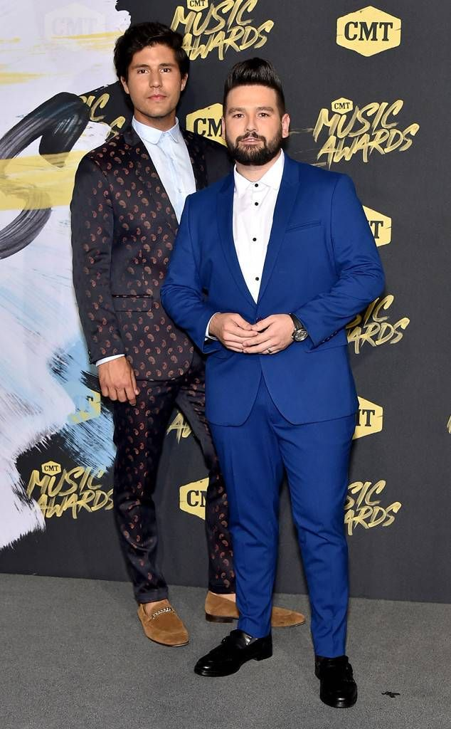 Dan & Shay from CMT Music Awards 2018 Red Carpet Fashion