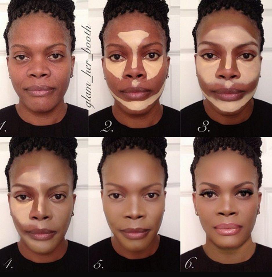 Bien-aimé contouring-peau-noire | brown skin | Pinterest | Le contouring  HF91
