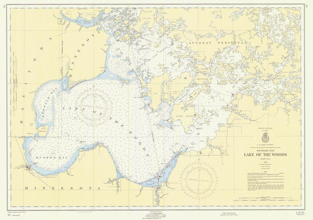 Lake Michigan Beaver Islands Historical Map 1935