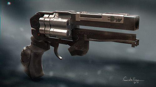 Futristic revolver by Nathan Twist
