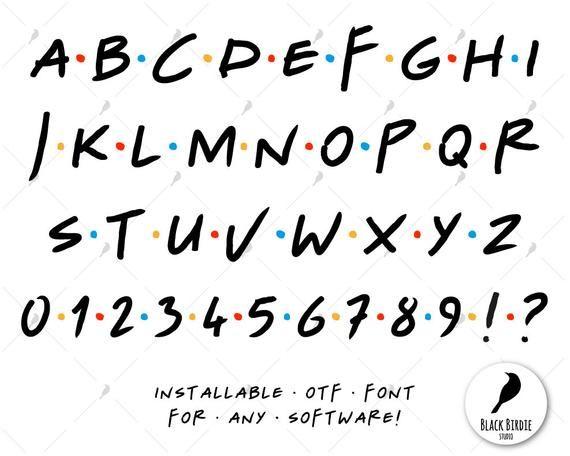 Printable Alphabet Of The Friends Tv Show Font Cricut Friends Tv