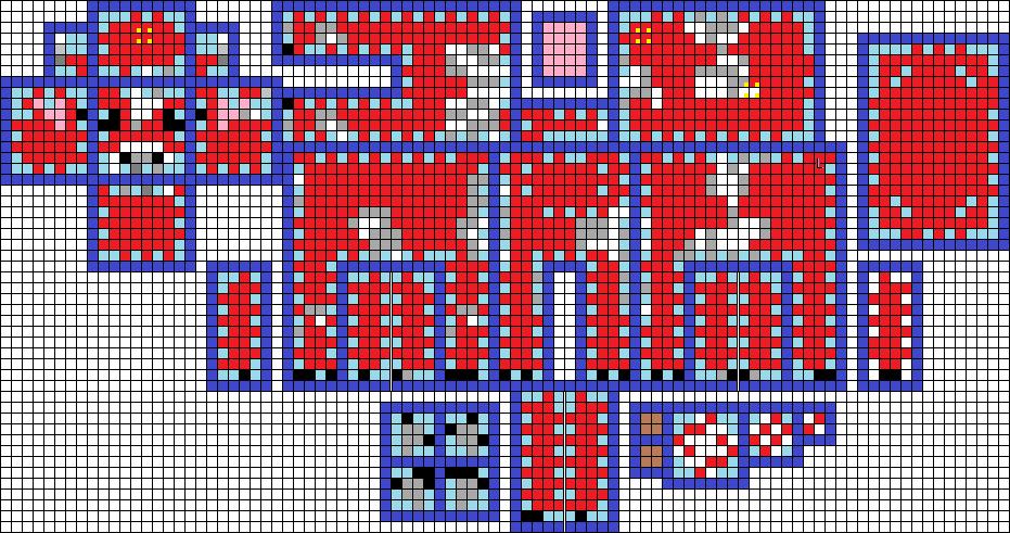 3d minecraft mooshroom pattern perler by pinknihon
