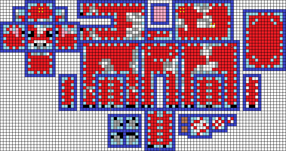 3d Minecraft Mooshroom Pattern Perler Beads By Pinknihon On