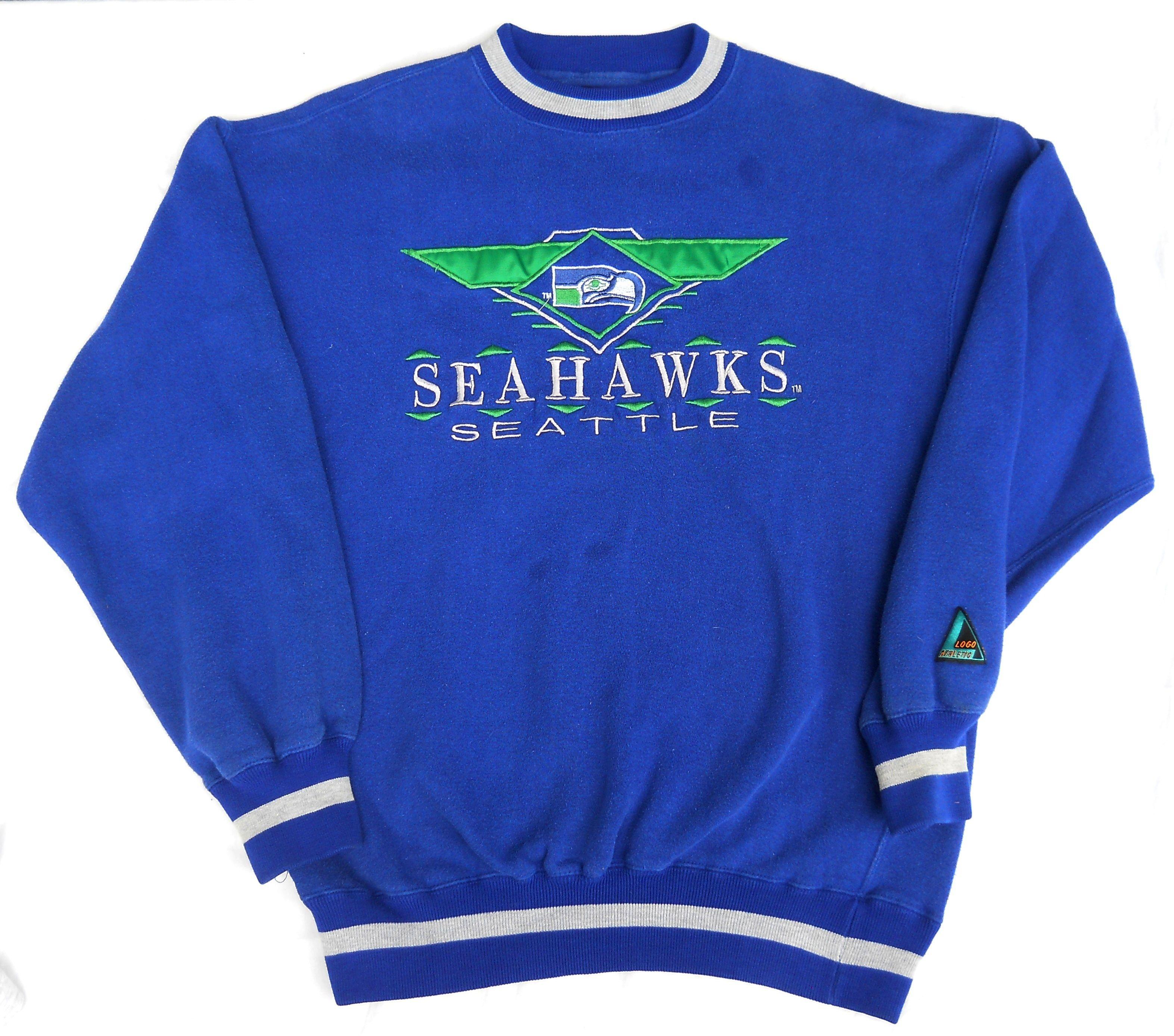 Predownload: Vintage 1992 Seattle Seahawks Crewneck Sweatshirt By Logo Athletic Men S Medium Pre Owned Sudaderas [ 2777 x 3145 Pixel ]