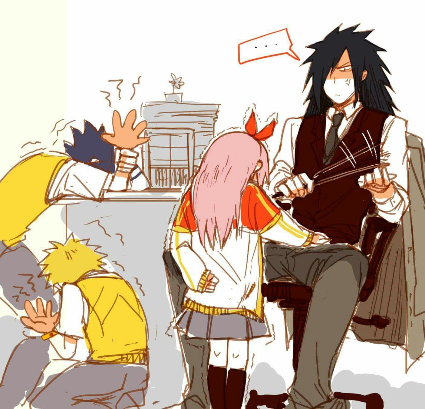 Team 7 in school  and madara is the teacher -2