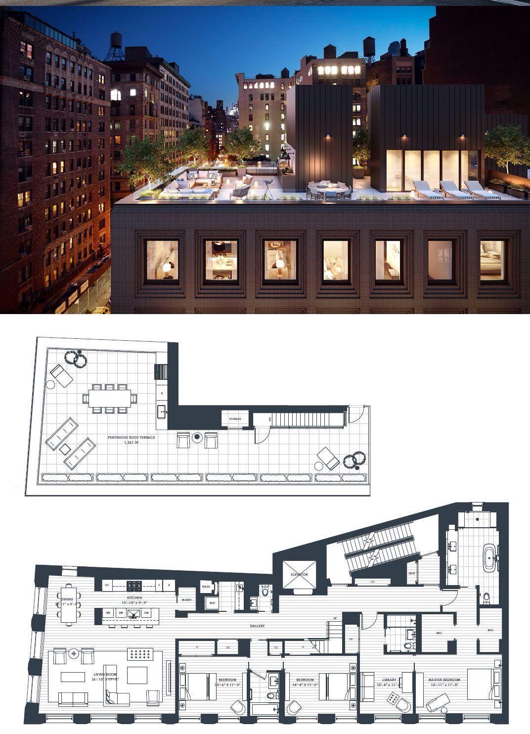 116 university place penthouse townhouse apartments new york apartments apartment floor plans apartment