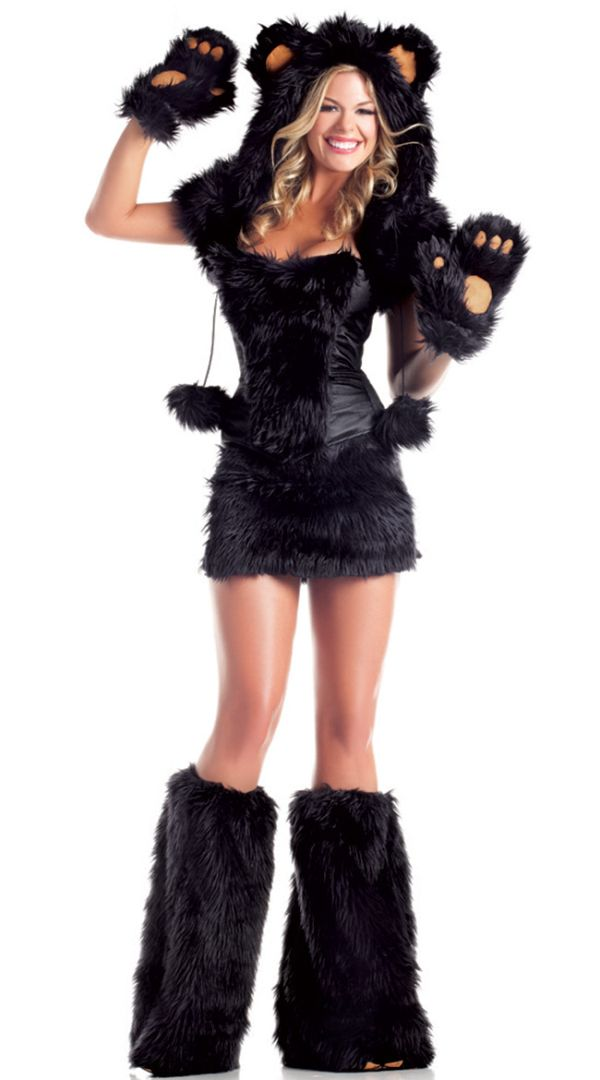 270ab7572f6a Sexy Black Bear Faux Fur Animal Suit Costume | Cosplay Costumes in ...
