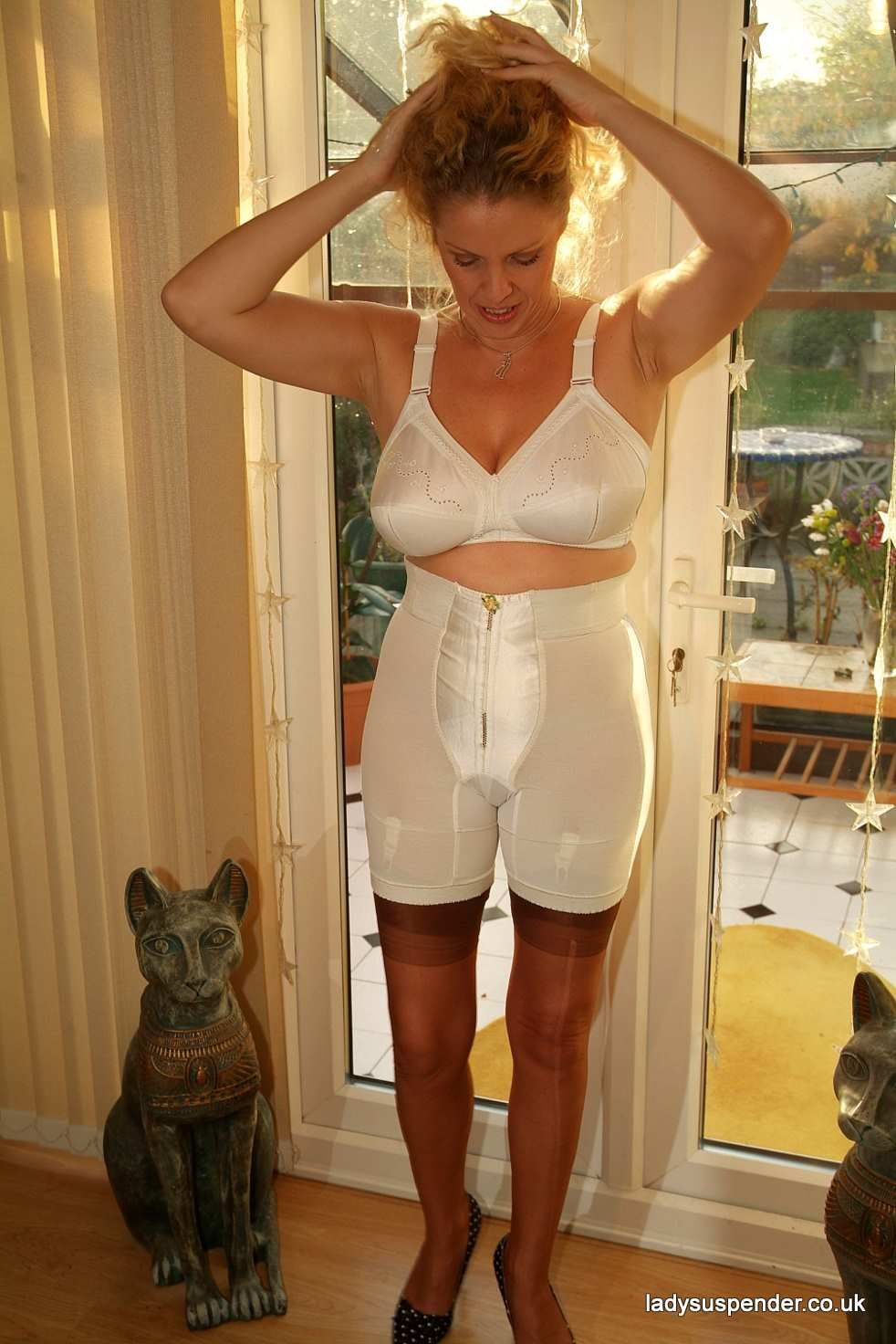 mature women wearing girdles