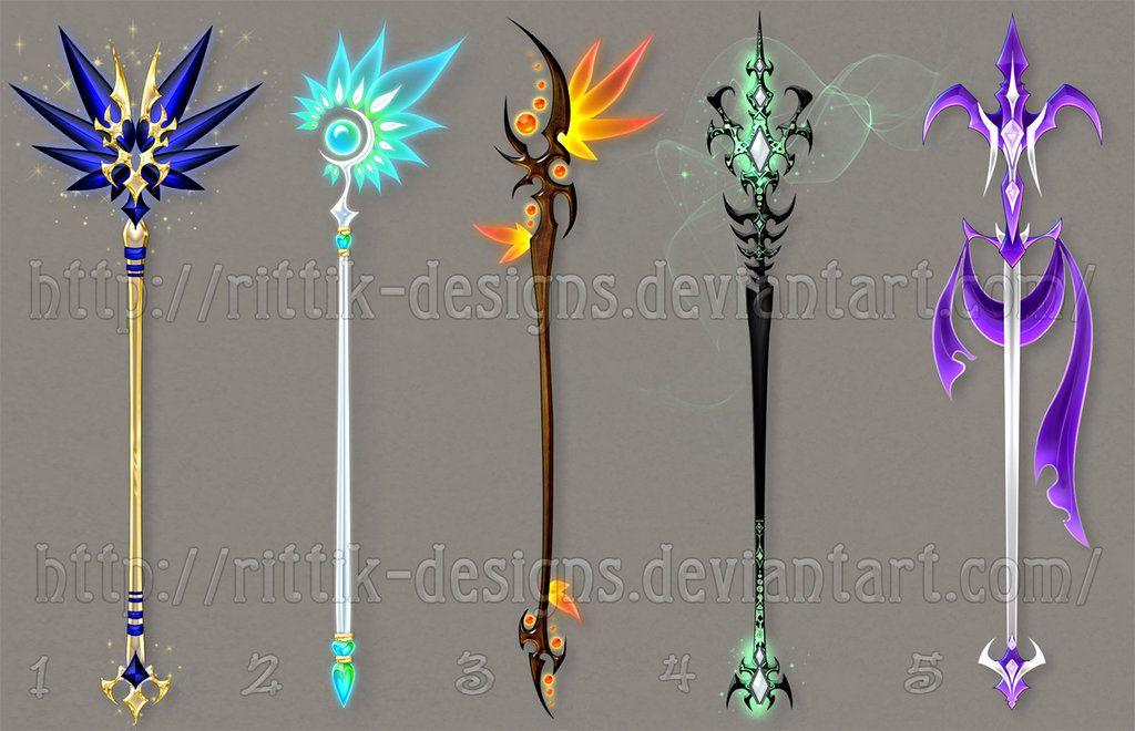 Staff designs 36 by rittik designs on deviantart sword for Wand designs
